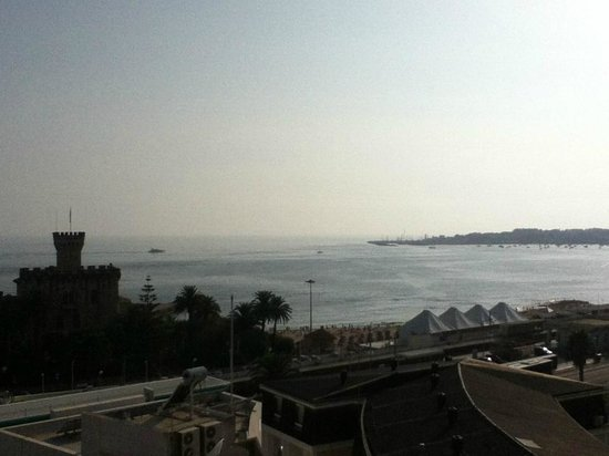 view from room: hotel Vila Galé Estoril (evening)