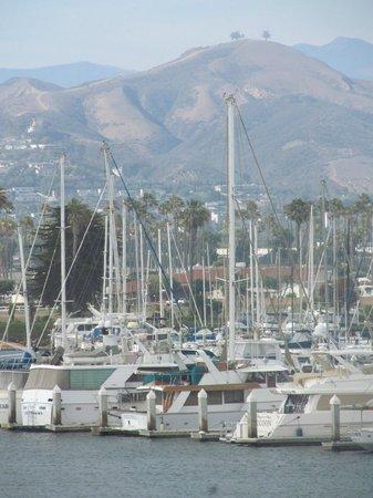 Ventura Harbor Village : View across Ventura Harbor toward the mountains