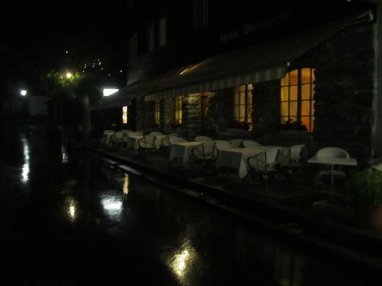 Hotel Blumental Murren: Evening Al Fresco