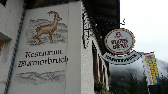 Berggasthaus Marmorbruch: Outside sign