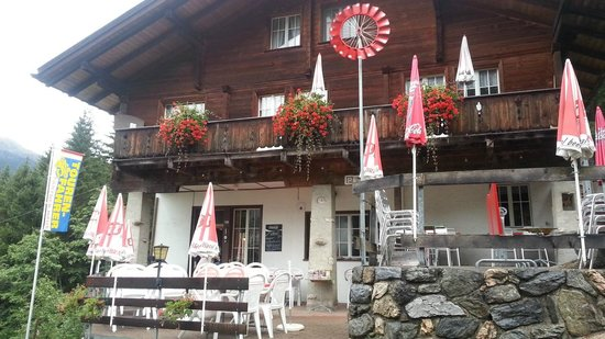Berggasthaus Marmorbruch: Front door and patio