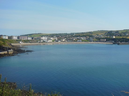 Balmoral Hotel: Port Erin from Bradda Head. The Balmoral can just be seen in the centre of the photo