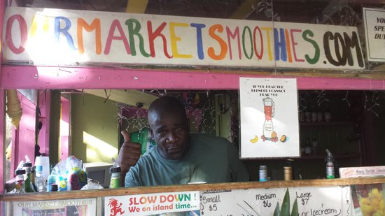 Our Market Smoothies : Thomas, doing what he does best!