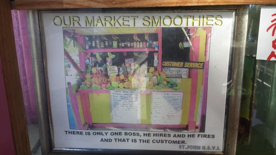 Our Market Smoothies : The sign that made me stop here.  VERY impressive!