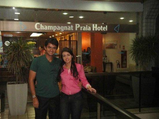 Champagnat Praia Hotel : Entrada do Hotel