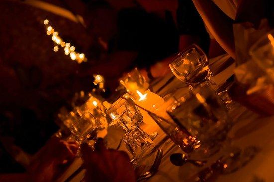 Charela Inn / Le Vendome: table setup