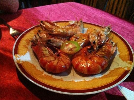 Red Lobster Tours Spa & Restaurant: prawns