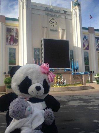 Muangphol Mansion: take exercise i fornt of Muangphol maion