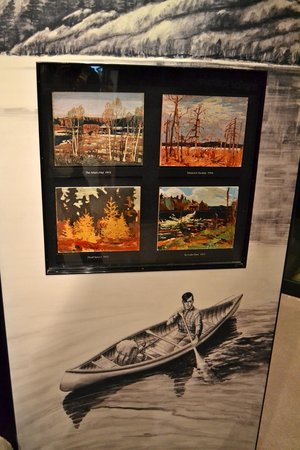 Algonquin Visitor Centre: Some of Tom Thompson's paintings