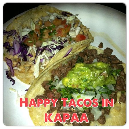 Happy Taco : CARNE ASADA TACO AND CHICKEN TACO WITH HOME MADE TORTILLAS!!!!! YUMMY!!