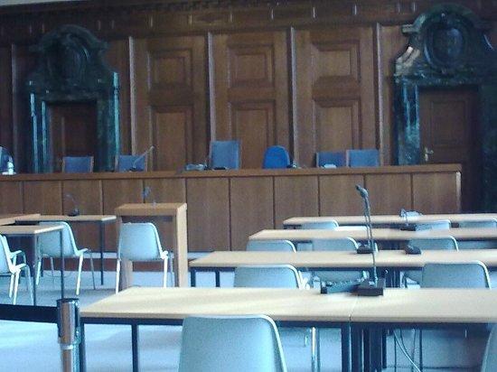 Nuremburg Trial Courthouse: Judges' bench