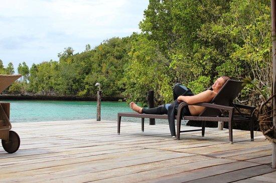 Raja Ampat Doberai Eco Resort: the deck