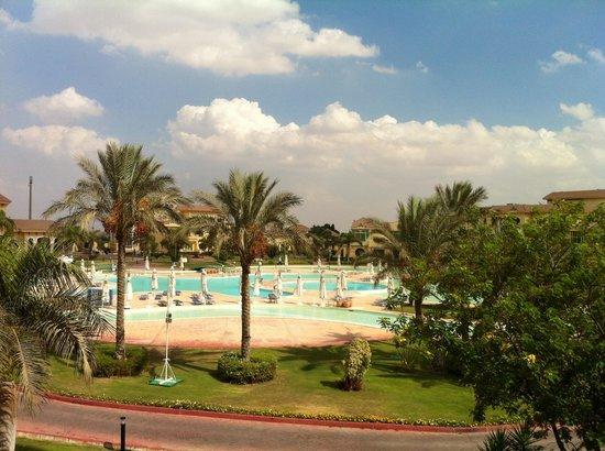 Mövenpick Hotel Cairo - Media City: View from room balcony - sweet!