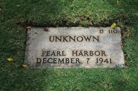 National Memorial Cemetery of the Pacific: Unknown Soldier Of Pearl Harbor Attack