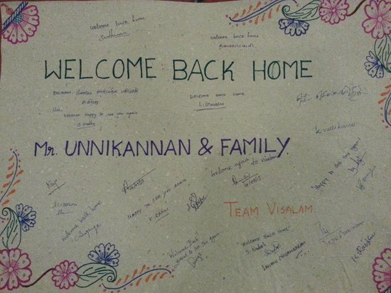 Welcome note from Team Visalam