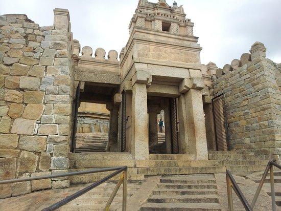 Bhagawan Bahubali Statue (Gommateshwara): Gate of temple on top
