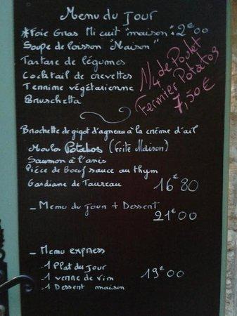 Lou Grilladou : Menu du jour!