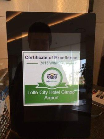 Lotte City Hotel Gimpo Airport: これもありました