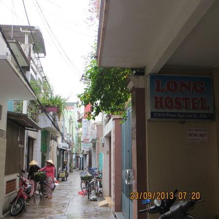 Lane in front of Long Hostel