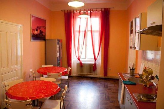 Sokolska Youth Hostel : Kitchen