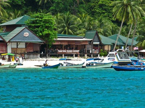 Perhentian Tuna Bay Island Resort : Tuna visto dal mare