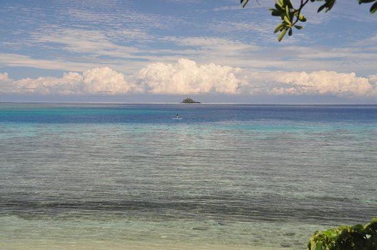 Mantaray Island Resort: Looking from jungle bure to reef and beyond