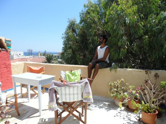 Chios Rooms: Top Room: the terrace