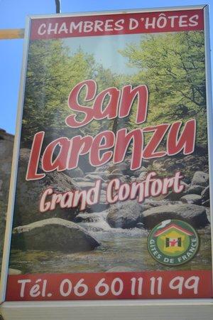 San Larenzu : Enseigne
