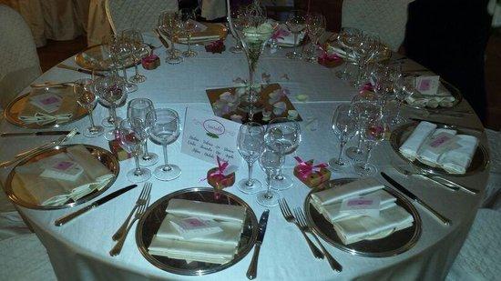 Castello di Rosciano: Un tavolo spettacolare