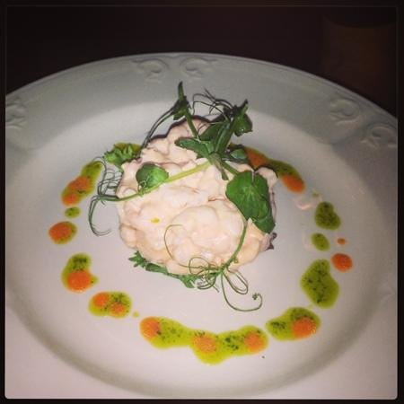 Rowley Manor Country House Hotel: prawn starter