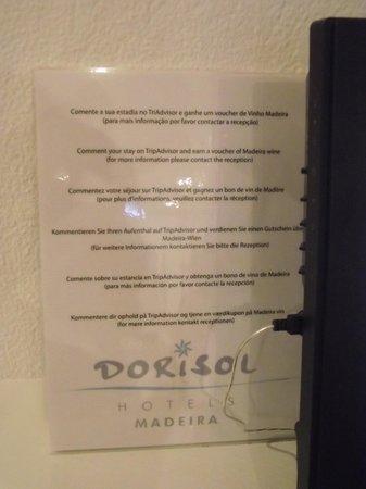 Dorisol Estrelicia: incitation à bien noté l'hôtel ?