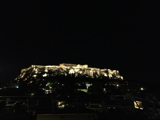 Plaka Hotel: View from the rooftop bar