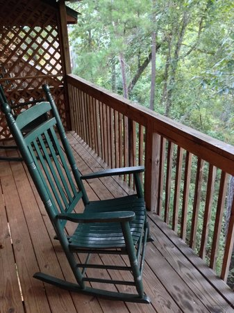 Historic Banning Mills: My cabin's back deck