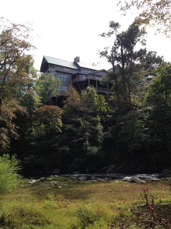 Historic Banning Mills: A view of our classroom from the hiking trail