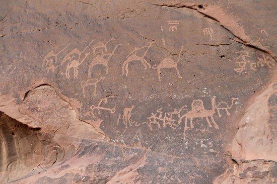 Wild Wadi Rum: Iscrizioni Nabatee