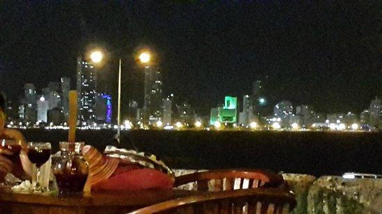 Cafe Del Mar Cartagena: Vista desde la terraza