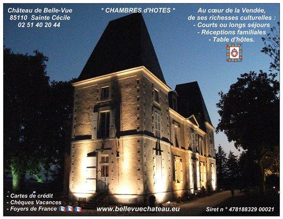 Château de Belle-Vue : Arrivée de nuit