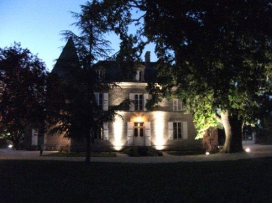 Château de Belle-Vue : Le parc de nuit