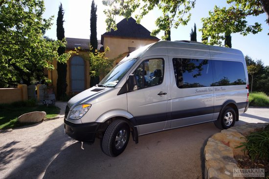 Sustainable Vine Wine Tours : Our luxury Mercedes 9 passenger tour vehicle. for all group tours