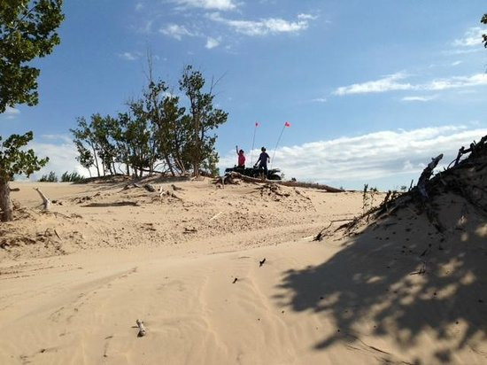 Silver Lake Sand Dunes: Riding the dunes at Silver Lake State Park