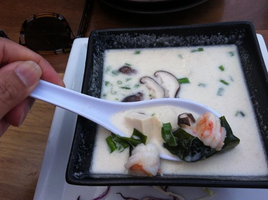 Sushi on the Rock: Creamy miso soup