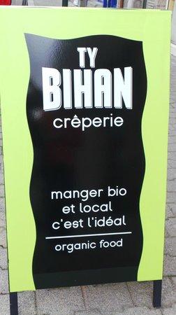 Crêperie Ty Bihan : panneau