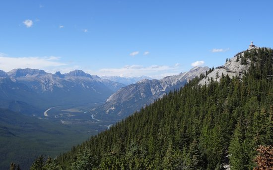 Banff Gondola: View from staging toward weather observatory