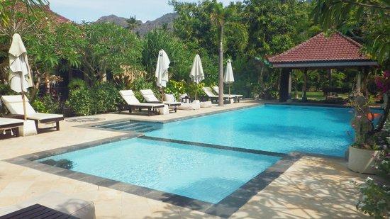 Tirta Sari Bungalows: piscine et bar