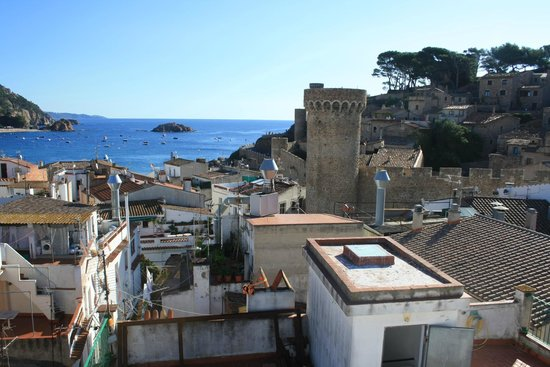 Fonda Codolar : view from the terrace - main beach and Old Town