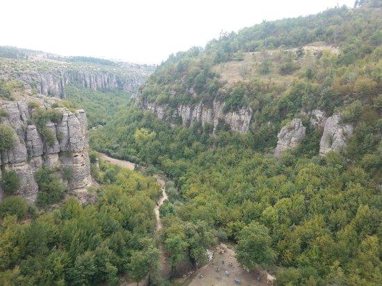 ซาฟรานโบลู, ตุรกี: cam terastan kanyon manzarası