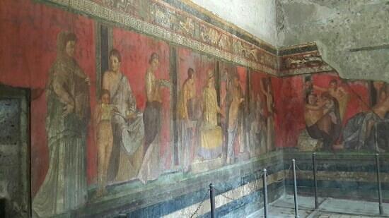 Tempio d'Iside : pintura em pompeia