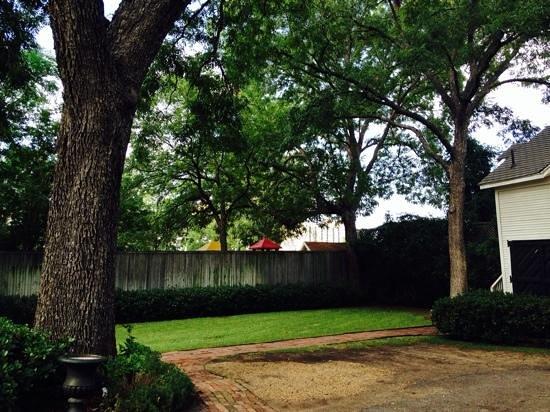 Corinthian Bed & Breakfast: the backyard