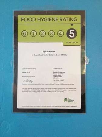 Spice n dosa: Thanks for giving us the top rating!