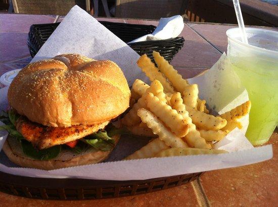 Crabby Steve's: Delish swordfish sandwhich